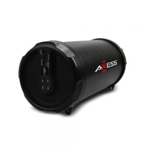 AXESS SPBT1030BK Portable Bluetooth Indoor/Outdoor Hi-Fi Cylinder Loud Speaker