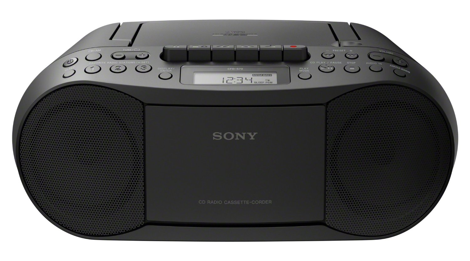 sony cfds70blk cd cassette boombox reviews soundspare. Black Bedroom Furniture Sets. Home Design Ideas