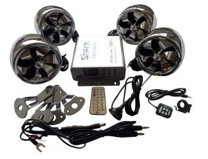 Shkc6800 Chrome 1000 Bluetooth speakers for All Motorcycle